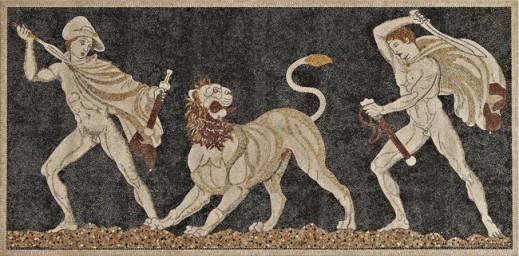 mosaique au lion de Pella